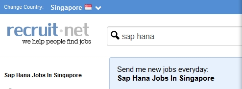 sap hana Recruit.net