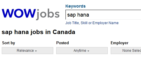 sap hana wowjobs