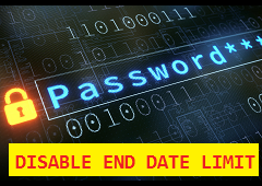 Disable password validity period