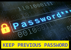 update password with previous password