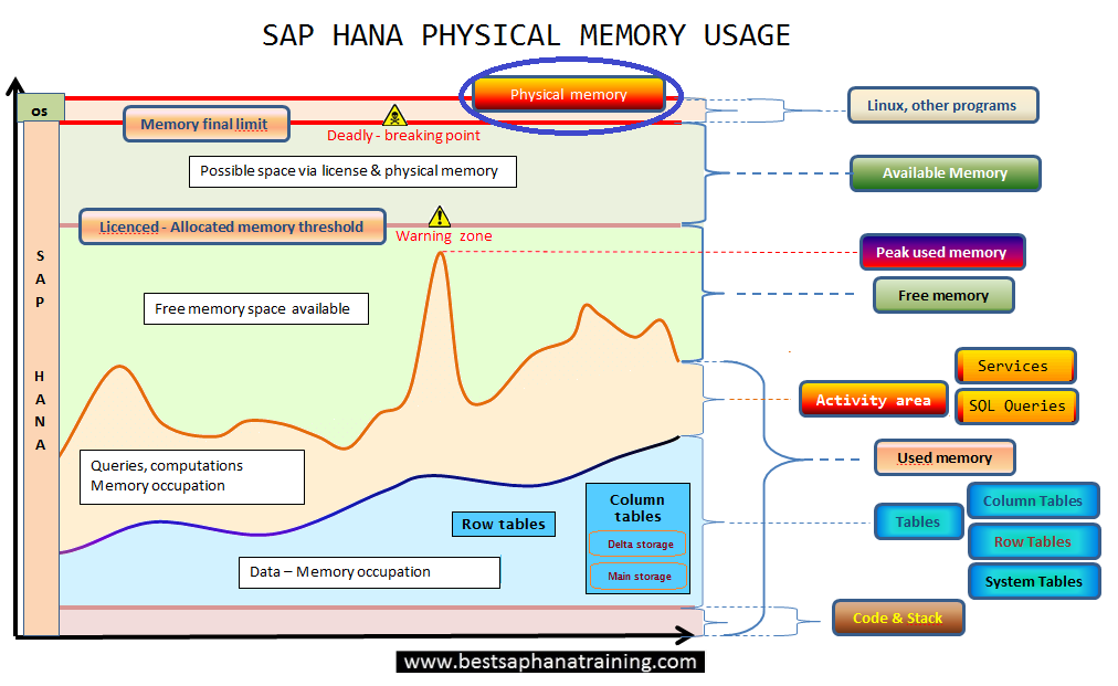Sap hana physical memory