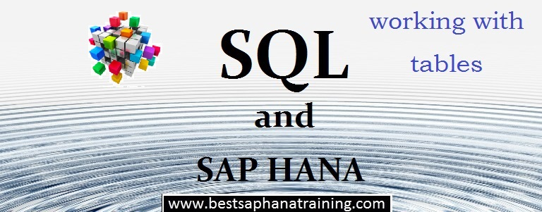 sap hana table row column differences