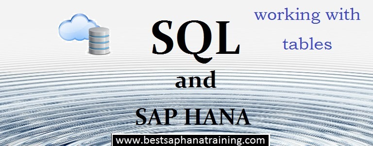 sap hana table storage