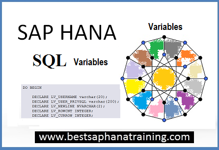 Using Sap hana variables in a sap hana procedures