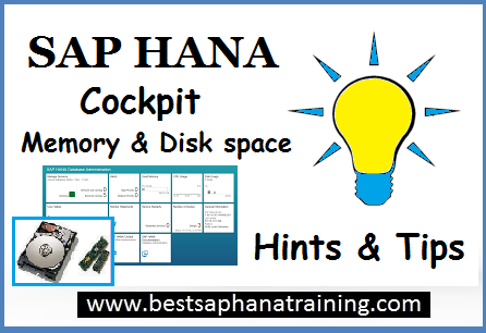 sap hana cockpit memory and disk space