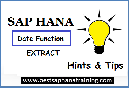 sap hana date function extract