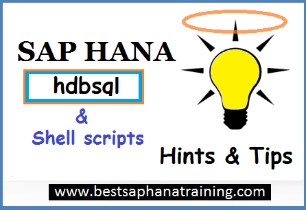 sap hana hdbsql and shell scripts