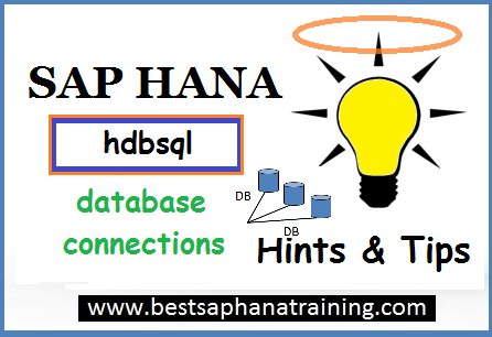 sap hana database connection