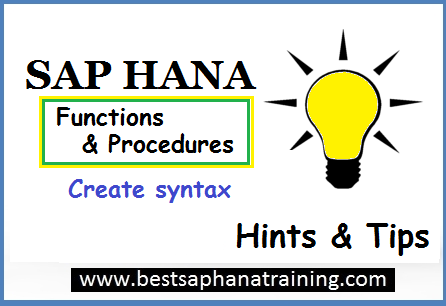 create sap hana procedures