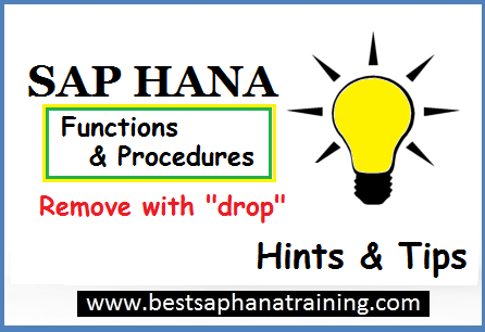 drop sap hana procedures
