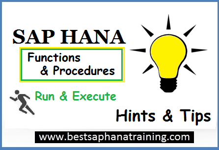 execute sap hana procedures