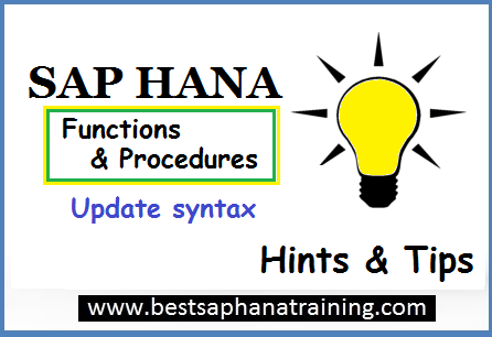 update sap hana procedures