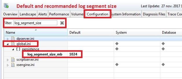 recommanded log backup size