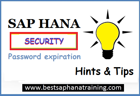 sap hana user password expiration