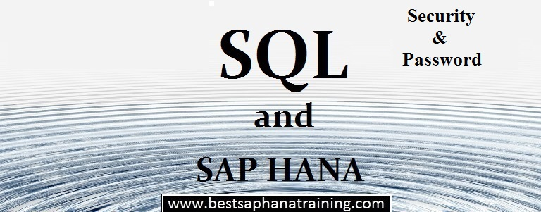 Sap hana memory password security