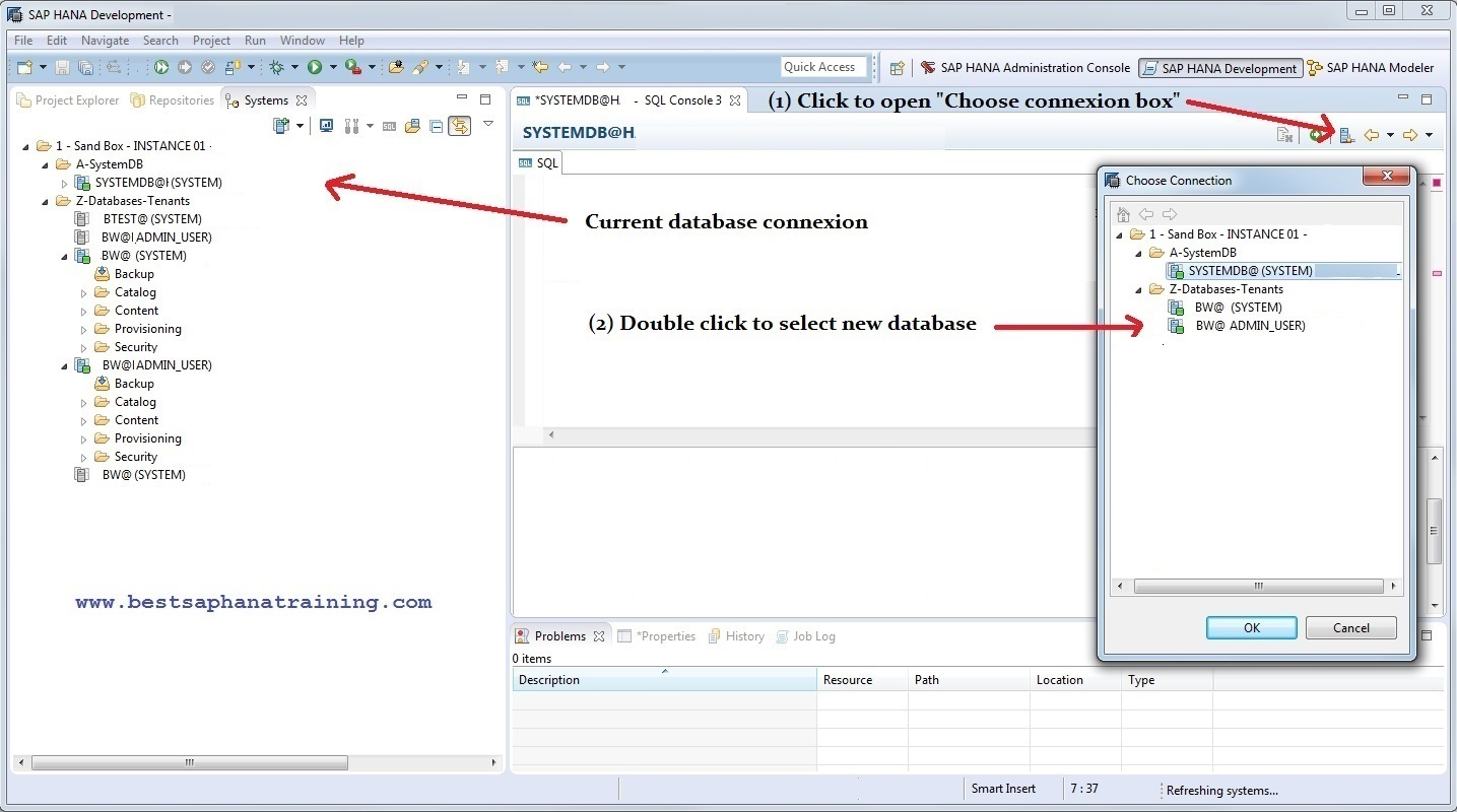 How to use Sap Hana studio SQL Console? How to learn hana