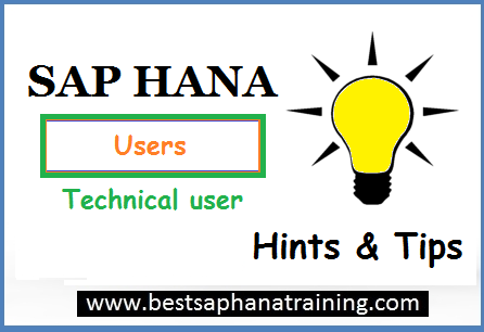 create sap hana technical users