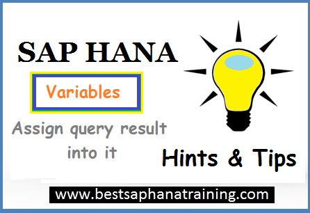 SQL Query result in sap hana variables