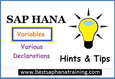sap hana variable declarations