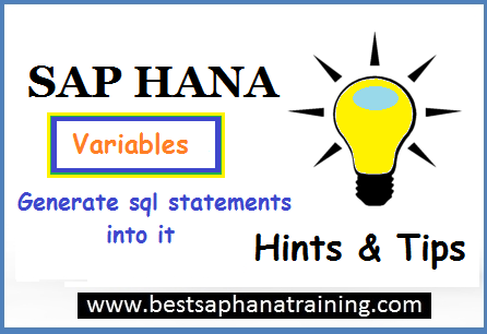 sap hana variable sql statement