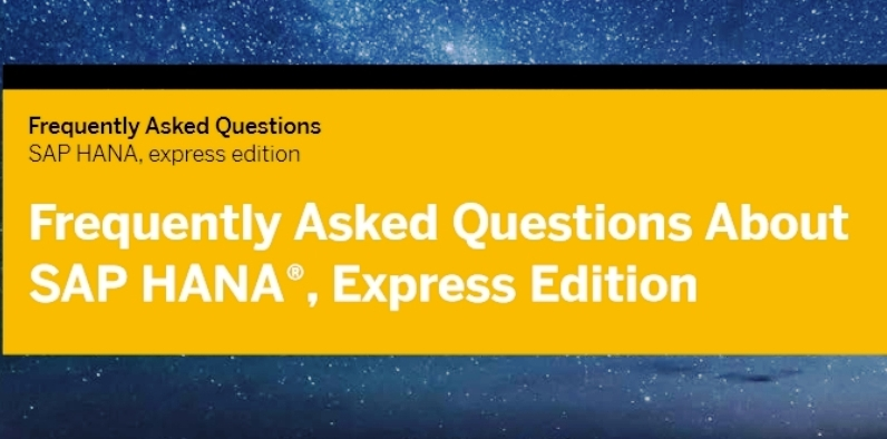 SAP Hana FAQ
